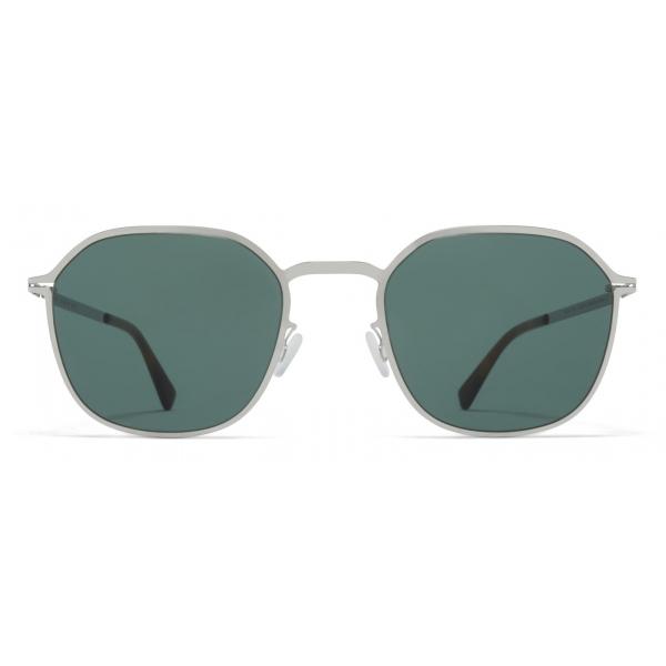 Mykita - Felix - Lite - Shiny Silver Dark Green - Metal Collection - Sunglasses - Mykita Eyewear