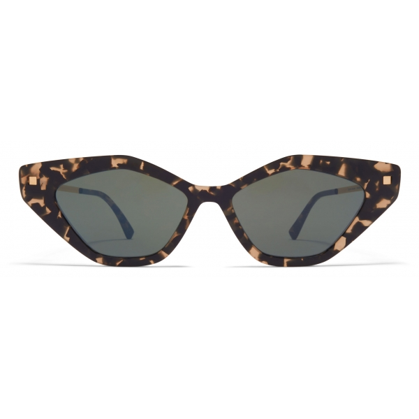Mykita - Gapi - Lite - Antigua Champagne Gold Mirror Black - Acetate Collection - Sunglasses - Mykita Eyewear