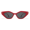Mykita - Gapi - Lite - Red Champagne Gold Dark Grey - Acetate Collection - Sunglasses - Mykita Eyewear