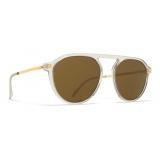 Mykita - Helgi - Lite - Champagne Gold Brown - Acetate Collection - Sunglasses - Mykita Eyewear