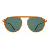 Mykita - Helgi - Lite - Dark Amber Gold Dark Green - Acetate Collection - Sunglasses - Mykita Eyewear