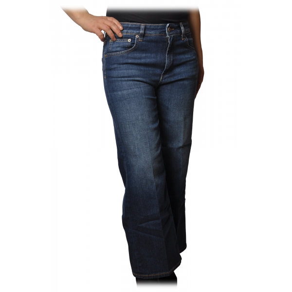 Dondup - Five Pockets Jeans Wide Leg - Blue Jeans - Trousers - Luxury Exclusive Collection