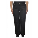 Dondup - Five Pockets Jeans Wide Leg - Black - Trousers - Luxury Exclusive Collection