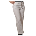 Dondup - Five Pockets Jeans Wide Leg - White - Trousers - Luxury Exclusive Collection