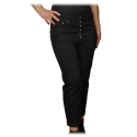Dondup - Straight Leg Jeans with Jewel Buttons - Black - Trousers - Luxury Exclusive Collection