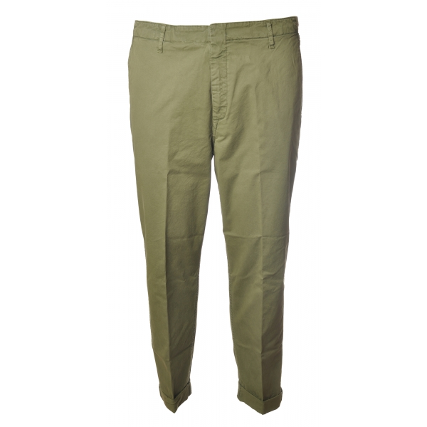 Dondup - Trousers in Faded Cotton - Green - Trousers - Luxury Exclusive Collection