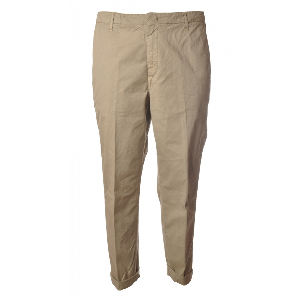 Dondup - Trousers in Faded Cotton - Beige - Trousers - Luxury Exclusive Collection