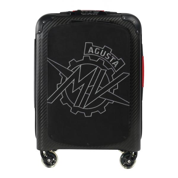 MV Augusta - TecknoMonster - Logo Carbon Suitcase Medium - Trolley in Carbonio Aeronautico