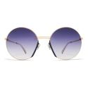Mykita - Jette - Lite - Gold Indigo Grey - Acetate & Stainless Steel Collection - Sunglasses - Mykita Eyewear