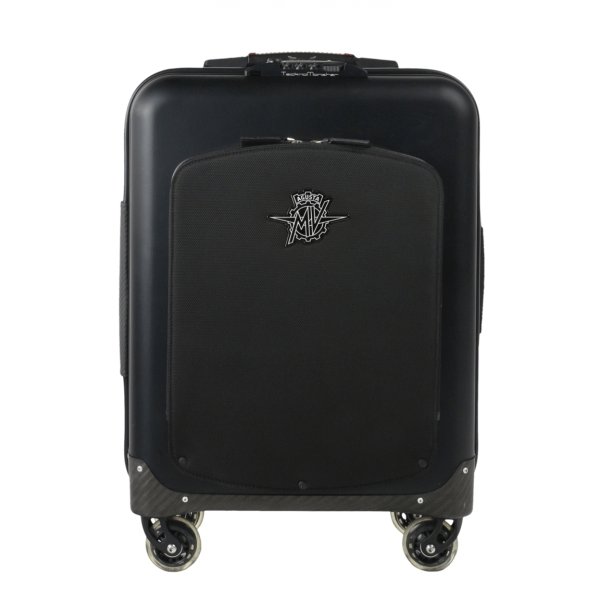 MV Augusta - TecknoMonster - TecknoMonster Aluminum Suitcase With Flap - Trolley in Carbonio Aeronautico