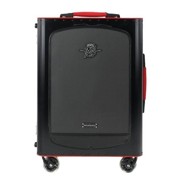 MV Augusta - TecknoMonster - TecknoMonster Titanium Suitcase With Flap - Trolley in Carbonio Aeronautico