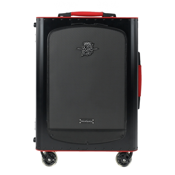 MV Augusta - TecknoMonster - TecknoMonster Titanium Suitcase With Flap - Trolley - Aeronautical Carbon Trolley Suitcase