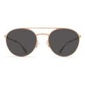 Mykita - Julian - Lite - Champagne Gold Dark Grey - Acetate & Stainless Steel Collection - Sunglasses - Mykita Eyewear