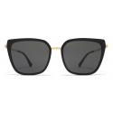 Mykita - Sanna - Lite - Gold Black Dark Grey - Acetate & Stainless Steel Collection - Sunglasses - Mykita Eyewear
