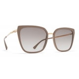 Mykita - Sanna - Lite - Champagne Gold Brown Grey - Acetate & Stainless Steel Collection - Sunglasses - Mykita Eyewear
