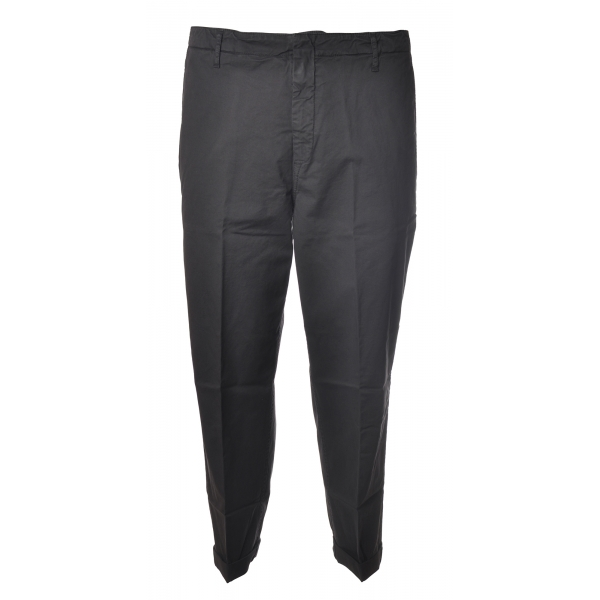 Dondup - Trousers in Faded Cotton - Grey - Trousers - Luxury Exclusive Collection