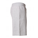 Dondup - Cotton Bermuda with Logo - Light Gray - Trousers - Luxury Exclusive Collection