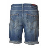 Dondup - Bermuda in Ripped Denim - Blue Jeans - Trousers - Luxury Exclusive Collection