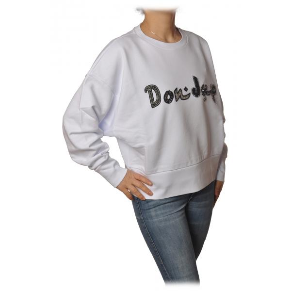 Dondup - Oversized Sweatshirt with Logo - White - Sweatshirt - Luxury Exclusive Collection