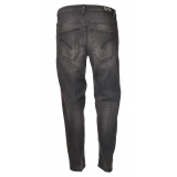Dondup - Jeans Straight Leg with Stitched Tears - Gray - Trousers - Luxury Exclusive Collection
