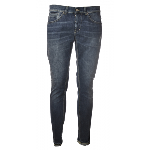 Dondup - Washed Tapered Leg Jeans - Blue Jeans - Trousers - Luxury Exclusive Collection