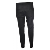 Dondup - Lightweight Cotton Trousers - Black - Trousers - Luxury Exclusive Collection