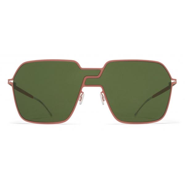 Mykita - Studio 12.3 - Mykita Studio - Pink Clay Olive Green - Metal Collection - Sunglasses - Mykita Eyewear