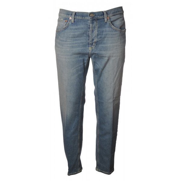 Dondup - Low Crotch Jeans Washed Denim Canvas - Light Denim - Trousers - Luxury Exclusive Collection
