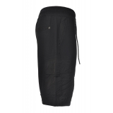 Dondup - Cotton Bermuda with Nylon Inserts - Black - Trousers - Luxury Exclusive Collection