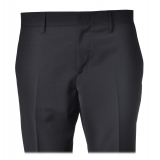 Dondup - Trousers in Combed Fabric - Blue - Trousers - Luxury Exclusive Collection