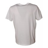 Dondup - T-shirt with Contrasting Embroidery - White - T-shirt - Luxury Exclusive Collection