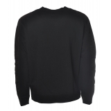Dondup - Sweatshirt with Logo and Nylon Inserts - Black - Sweatshirt - Luxury Exclusive Collection