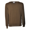 Dondup - Sweater in Faded Effect Cotton - Brown - Knitwear - Luxury Exclusive Collection
