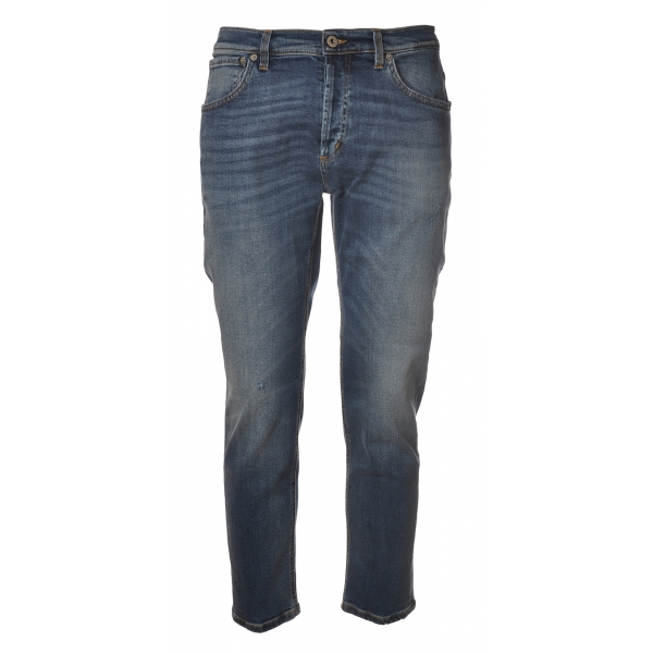 Dondup - Low Crotch Jeans Washed Denim Canvas - Dark Denim - Trousers - Luxury Exclusive Collection