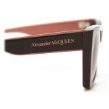 Alexander McQueen - Selvedge Cat-Eye Sunglasses - Burgundy - Alexander McQueen Eyewear