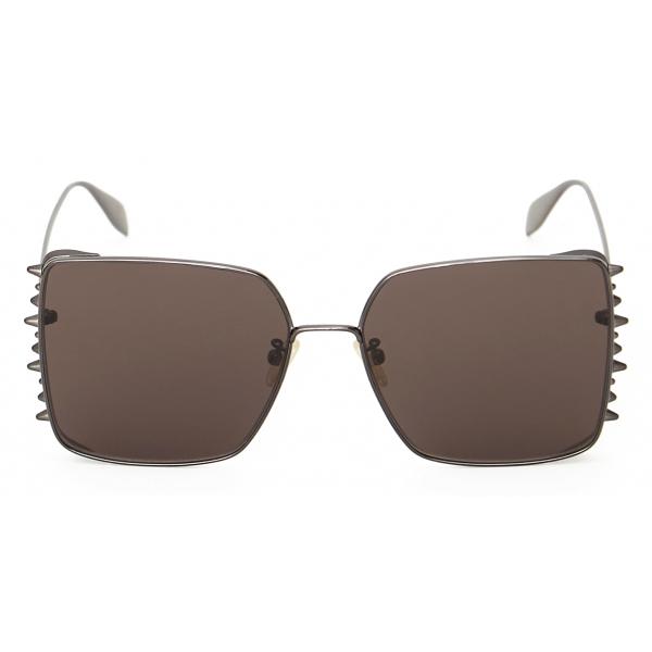 Alexander McQueen - Occhiale da Sole Quadrati Punk Stud - Rutenio - Alexander McQueen Eyewear