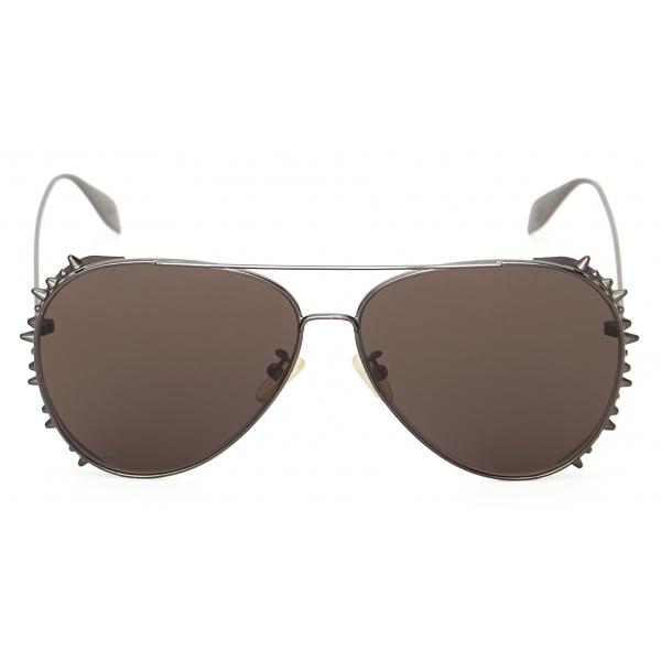 Alexander McQueen - Occhiale da Sole Pilot Punk Stud - Rutenio - Alexander McQueen Eyewear