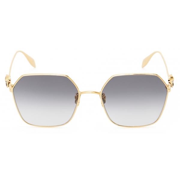 Alexander McQueen - Occhiale da Sole in Metallo Skull Droplets - Oro - Alexander McQueen Eyewear