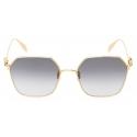Alexander McQueen - Skull Droplets Metal Sunglasses - Gold - Alexander McQueen Eyewear