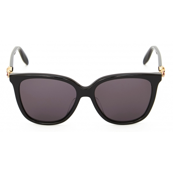 Alexander McQueen - Occhiale da Sole in Acetato Skull Droplets - Nero - Alexander McQueen Eyewear