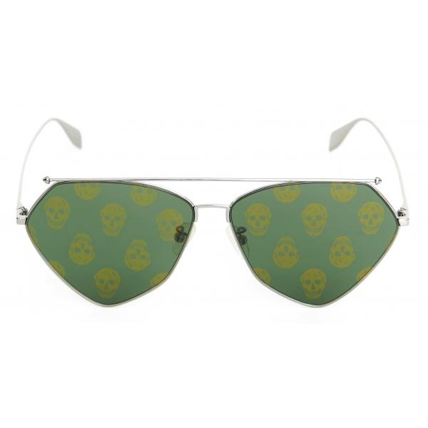 Alexander McQueen - Occhiale da Sole Top Piercing - Rutenio - Alexander McQueen Eyewear
