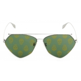 Alexander McQueen - Top Piercing Sunglasses - Ruthenium - Alexander McQueen Eyewear