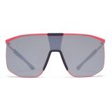 Mykita - Yarrow - Mykita Mylon - Neon Red Blue Navy Silver - Mylon Collection - Sunglasses - Mykita Eyewear