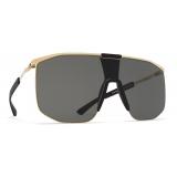 Mykita - Yarrow - Mykita Mylon - Gold Black Dark Grey - Mylon Collection - Sunglasses - Mykita Eyewear