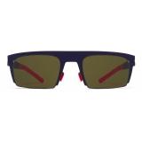 Mykita - New - Bernhard Willhelm - Mulberry Fuchia Green - Metal Collection - Sunglasses - Mykita Eyewear