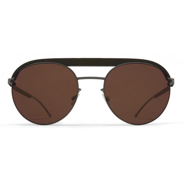 Mykita - ML01 - Mykita + Leica - Green Safari Graphite Brown - Metal Collection - Sunglasses - Mykita Eyewear