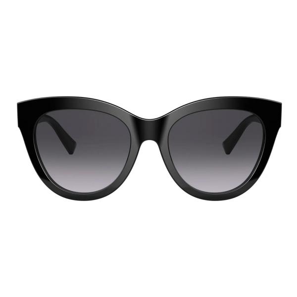 Valentino - Occhiale da Sole Cat-Eye in Acetato VLogo Signature - Nero - Valentino Eyewear