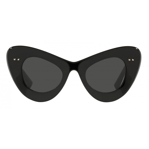 Valentino - VLogo Signature Cat-Eye Acetate Sunglasses - Black Gray - Valentino Eyewear