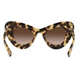 Valentino - VLogo Signature Cat-Eye Acetate Sunglasses - Havana Brown - Valentino Eyewear