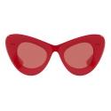 Valentino - VLogo Signature Cat-Eye Acetate Sunglasses - Red - Valentino Eyewear